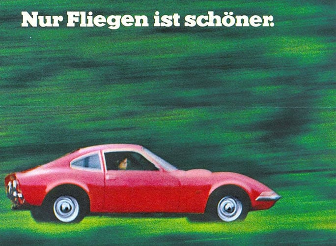 Advertentie Opel GT